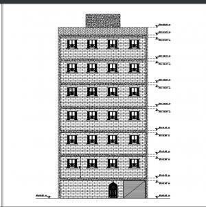 نقشه 6 طبقه سازه بتنی فایل pdf