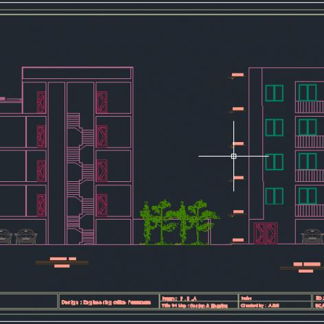 نقشه 4 طبقه بتنی