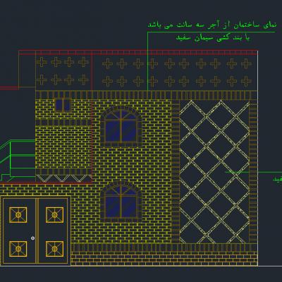 دانلود رایگان نقشه 2 طبقه با زیر بنای 100 متر - فایل اتوکد